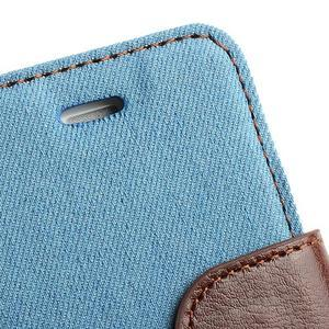 Jeans peněženkové pouzdro na iPhone 4 - světlemodré - 6