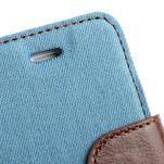 Jeans peněženkové pouzdro na iPhone 4 - světlemodré - 6/7