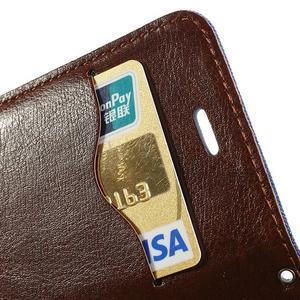 Jeans peněženkové pouzdro na iPhone 4 - modré - 6