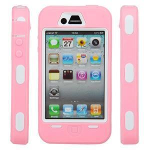 Armor vysoce odolný obal na iPhone 4 - růžový - 6