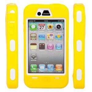 Armor vysoce odolný obal na iPhone 4 - žlutý - 6