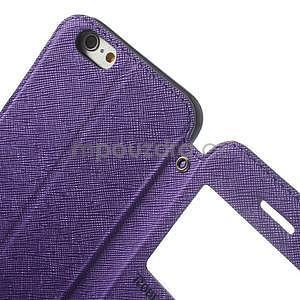 Peněženkové pouzdro s okýnkem na iPhone 6 a 6s - fialové - 6