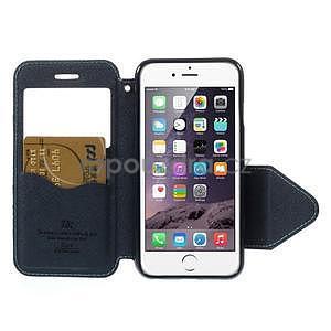 Peněženkové pouzdro s okýnkem na iPhone 6 a 6s - světle modré - 6