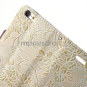 Elegantní květinové peněženkové pouzdro na iPhone 6 a 6s - bílé - 6
