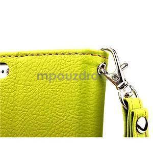 PU kožené peněženkové pouzdro pro iPhone 6s a 6 - zelené - 6