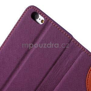 Klopové pouzdro na iPhone 6 a iPhone 6s - fialové - 6