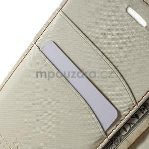 Peněženkové koženkové pouzdro na iPhone 6s a 6 - bílé - 6