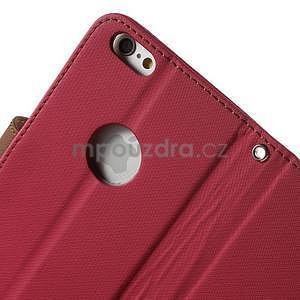 Peněženkové koženkové pouzdro na iPhone 6s a 6 - rose - 6