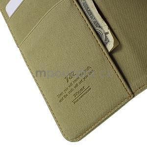 Peněženkové koženkové pouzdro na iPhone 6s a 6 - khaki - 6