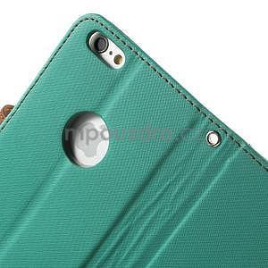 Peněženkové koženkové pouzdro na iPhone 6s a 6 - zelené - 6