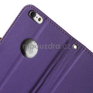 Peněženkové koženkové pouzdro na iPhone 6s a 6 - fialové - 6