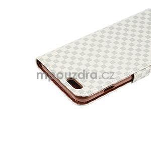 Mřížkované koženkové pouzdro na iPhone 6 a iPhone 6s - šedé - 6