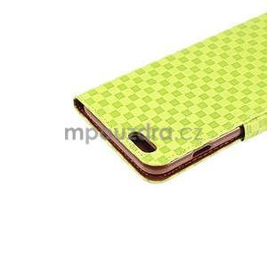 Mřížkované koženkové pouzdro na iPhone 6 a iPhone 6s - zelené - 6