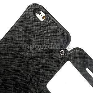 Peněženkové pouzdro s okýnkem na iPhone 6 a 6s - černé - 6