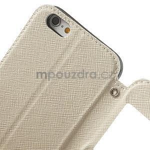 Peněženkové pouzdro s okýnkem na iPhone 6 a 6s - bílé - 6