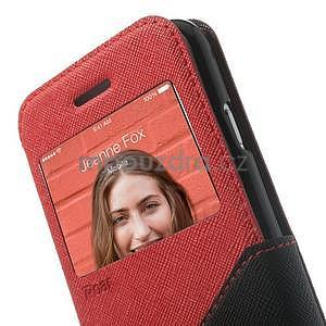 Peněženkové pouzdro s okýnkem na iPhone 6 a 6s - červené - 6