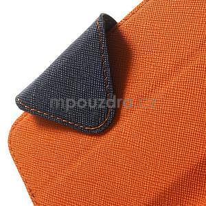 Peněženkové pouzdro s okýnkem na iPhone 6 a 6s - oranžové - 6