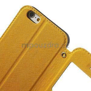 Peněženkové pouzdro s okýnkem na iPhone 6 a 6s - žluté - 6