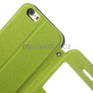 Peněženkové pouzdro s okýnkem na iPhone 6 a 6s - zelené - 6