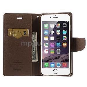 Peněženkové pouzdro pro iPhone 6 Plus a 6s Plus - černé/hnědé - 6