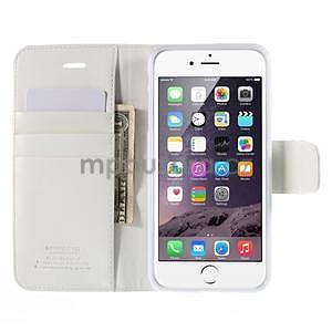 Peněženkové pouzdro pro iPhone 6 Plus a 6s Plus - bílé - 6