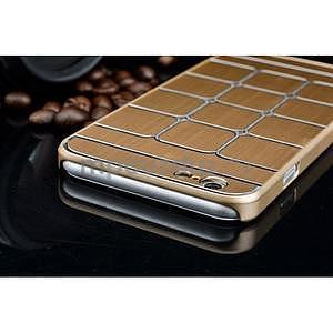 Stylový kryt s kovovými zády pro iPhone 6 Plus a 6s Plus - champagne - 6