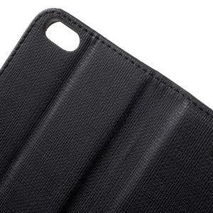 Cloth PU kožené pouzdro na iPhone SE / 5s / 5 - černé - 6