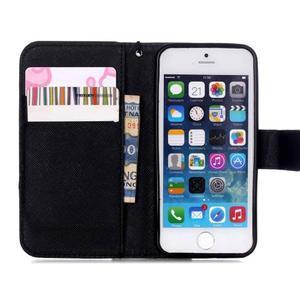 Peněženkové pouzdro na mobil iPhone SE / 5s / 5 - nothing - 6