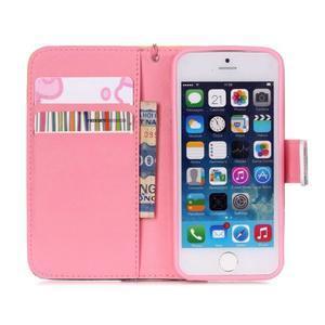 Peněženkové pouzdro na mobil iPhone SE / 5s / 5 - buldog - 6