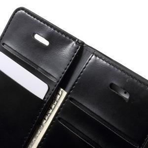 Extrarich PU kožené pouzdro na iPhone SE / 5s / 5 - černé - 6