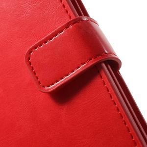 Extrarich PU kožené pouzdro na iPhone SE / 5s / 5 - červené - 6