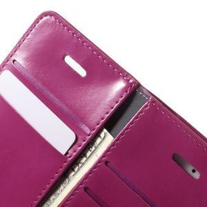 Extrarich PU kožené pouzdro na iPhone SE / 5s / 5 - magneta - 6