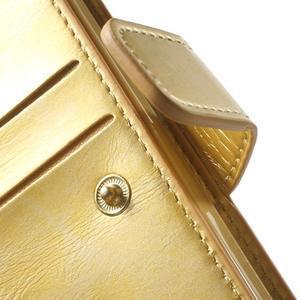 Extrarich PU kožené pouzdro na iPhone SE / 5s / 5 - zlaté - 6
