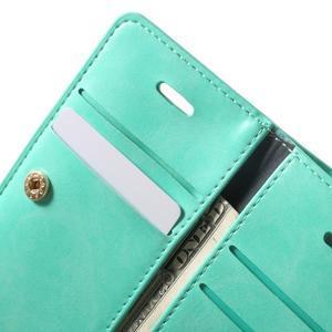 Extrarich PU kožené pouzdro na iPhone SE / 5s / 5 - azurové - 6
