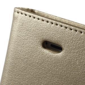 Rich diary PU kožené pouzdro na iPhone SE / 5s / 5 - zlaté - 6