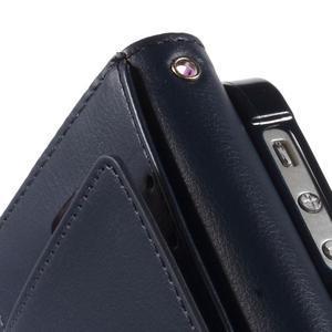 Rich diary PU kožené pouzdro na iPhone SE / 5s / 5 - fialové - 6