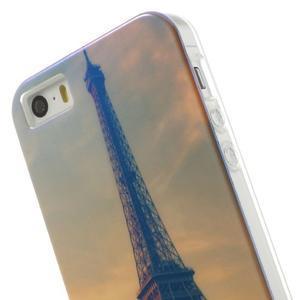 Blueray gelový obal s odlesky na iPhone SE / 5s / 5 - Eiffelova věž - 6