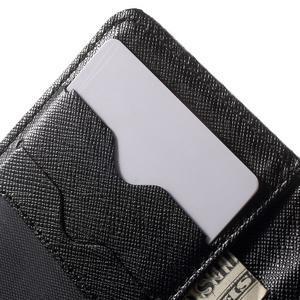 Cross PU kožené pouzdro na iPhone SE / 5s / 5 - černé - 6
