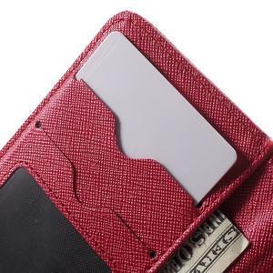 Cross PU kožené pouzdro na iPhone SE / 5s / 5 - červené - 6