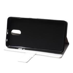 GX koženkové peněženkové na mobil Lenovo Vibe P1m - bílé - 6