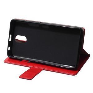 GX koženkové peněženkové na mobil Lenovo Vibe P1m - červené - 6