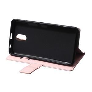 GX koženkové peněženkové na mobil Lenovo Vibe P1m - růžové - 6