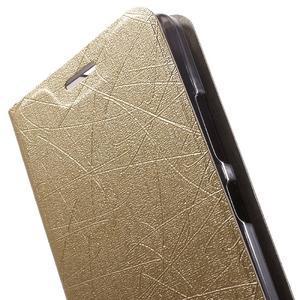 Klopové pouzdro na mobil Lenovo Vibe P1m - zlaté - 6