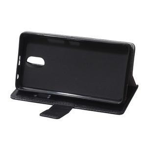 GX koženkové peněženkové na mobil Lenovo Vibe P1m - černé - 6