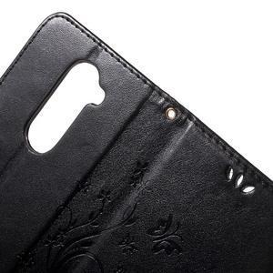 Buttefly PU kožené pouzdro na mobil LG Leon - černé - 6