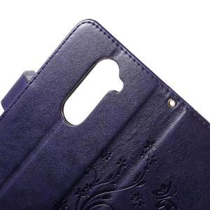 Buttefly PU kožené pouzdro na mobil LG Leon - fialové - 6