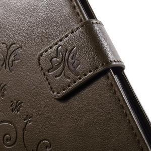 Buttefly PU kožené pouzdro na mobil LG Leon - coffee - 6