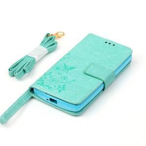 Magicfly pouzdro na mobil LG Leon - cyan - 6