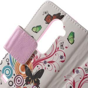 Emotive knížkové pouzdro na mobil LG Leon - motýlci - 6
