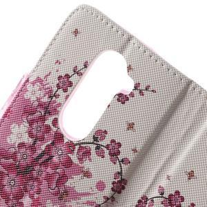 Emotive knížkové pouzdro na mobil LG Leon - kvetoucí větvička - 6